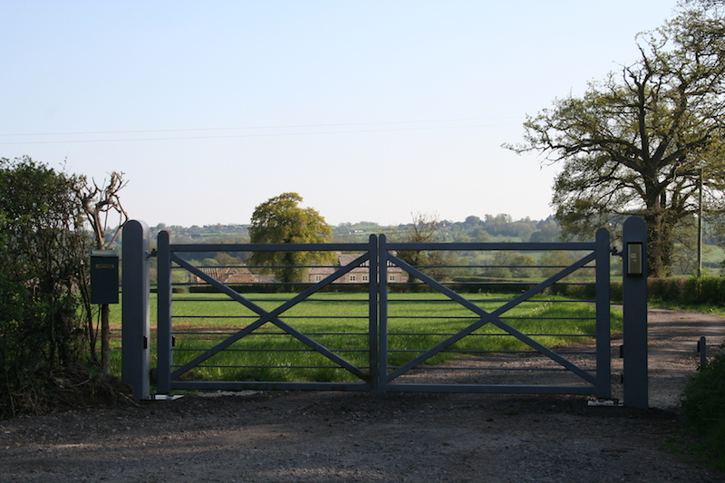Automatic gate in countryside