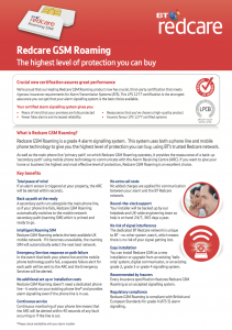 Broadsword's security monitoring uses BT's Redcare
